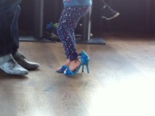 ...erste Tanzversuche